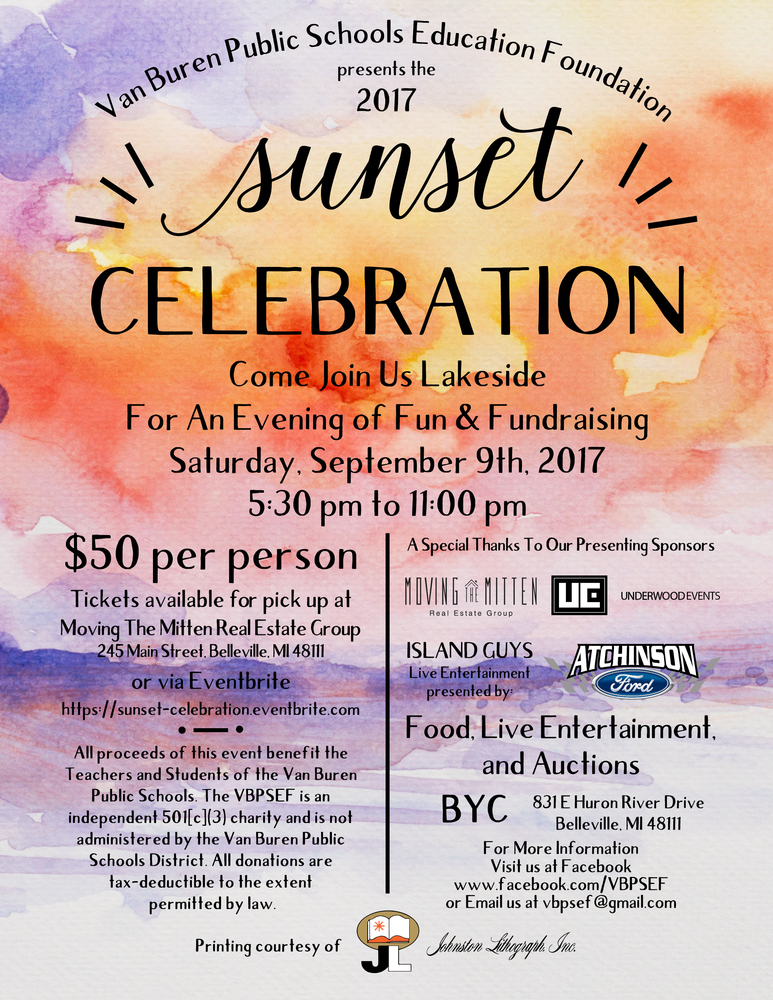 VBPSEF Sunset Celebration - September 9th